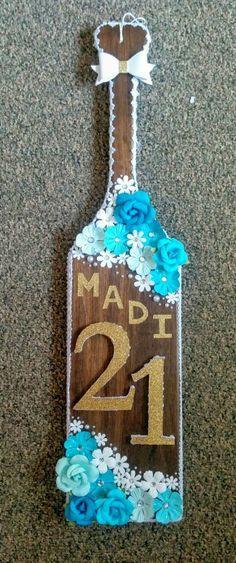 Made my big a 21st Birthday Paddle   TSM   Paddle   21   Sorority   biglittle