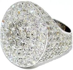 #Jewelry #PinkyRings Real Diamond Mens 8ct Extra Large White Gold Pinky Ring