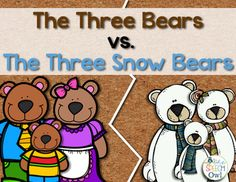 """FREE Do you love the story of """"The Three Bears"""" and """"The Three Snow Bears"""" by Jan Brett? Are you working on comparing and contrasting, describing, or answering comprehension questions? Sequencing Activities, Autism Activities, Book Activities, Kindergarten Themes, Kindergarten Reading, Word Work Stations, Goldilocks And The Three Bears, Jan Brett, First Year Teachers"""