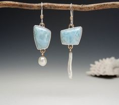 Larimar and pearls | by betsy.bensen