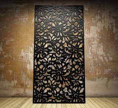 Laser cut screen - Floral