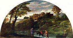 Paesaggio con fuga in Egitto, Annibale Carracci, olio su tela, 1602-1604,  Galleria Doria Pamphilij, Roma.