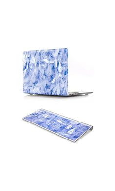 35.99$ - KEC MacBook Air 13 Inch Case with KeyBoard Cover Plastic Hard Shell Cover Matte Non Cut Out A1369 / A1466 (Blue Feather)