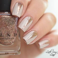 Rose Gold and Cream Nails