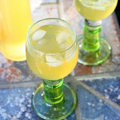 Recipe: Limoncello, vodka, lemon peels, water, sugar. Used as a drink or in baking.