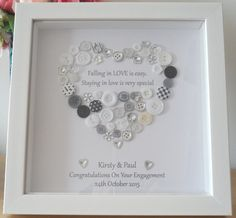 Wedding Anniversary / Engagement Button Picture LOVE is