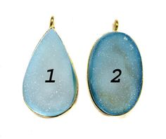 24 kt Gold Plated Druzy Pendants  1 piece of fine by finegemstone, $25.00