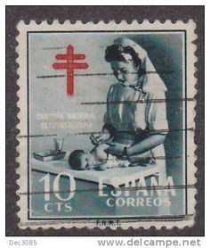 Vintage Nurse and Baby postage stamp