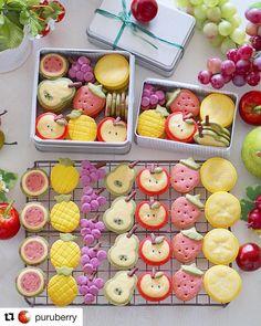 Kawaii Cookies, Fancy Cookies, Cute Cookies, Sugar Cookies, Cookie Box, Cookie Gifts, Icebox Cookies, Cute Baking, Kawaii Dessert