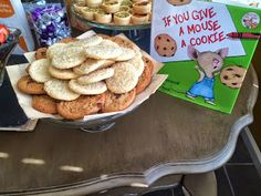 Stock the Library - Book Themed Baby Shower - If you give a mouse a cookie