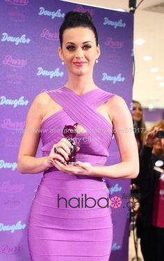 katy perry in purple herve leger bandage dress d3b6e8b69bbe