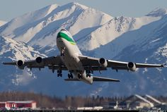 Nippon Cargo Boeing 747-481F/SCD taking off from Anchorage