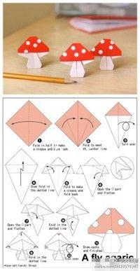 origami toadstools!