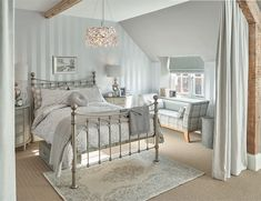 Find sophisticated detail in every Laura Ashley collection - home furnishings, children's room decor, and women, girls & men's fashion. Dream Bedroom, Home Decor Bedroom, Modern Bedroom, Cottage Bedrooms, Silver Bedroom Decor, Bedroom Bed, Bed Room, Bed Furniture, Cheap Furniture