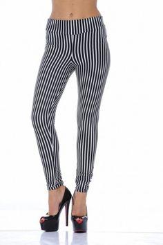 Striped Black And White Leggings  OMG love them! xx