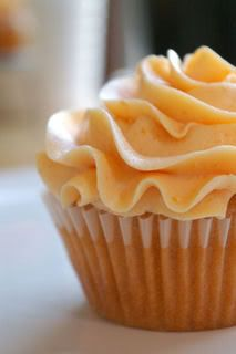 Fresh Peach Cupcakes with Peach Buttercream Icing...Just Peachy!