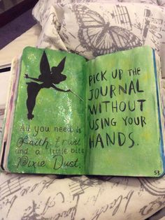 Wreck This Journal Inspiration - Pick Up This Journal Without Using Your Hands
