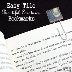 quick tile bookmarks easy to personalize #crafts #diy #tutorial