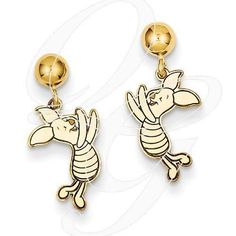 Always trying to make and find the good stuff! 14k Disney Piglet Dangle Post EarringsBy Paul Michael Design. Available at www.Geek.jewelry  #Jewelry #HandMade #GeekJewelry #geekdotjewelry #popculture #Designer #Creative #Geek #PaulMichaelJewelry #YouAreSpecial
