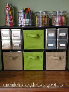 Kids art supply organization