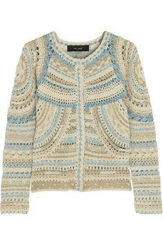 Isabel Marant Weston crochet-knit jacket