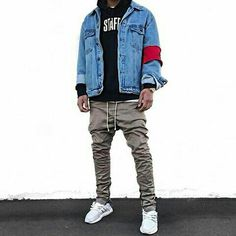 Like the outfit just not feeling that arm band Hipster Fashion, Urban Fashion, Mens Fashion, Americana Vintage, Teen Fashion Winter, Outfits With Hats, Fresh Outfits, Streetwear Fashion, Streetwear Clothing