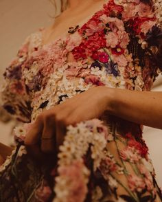 """31.4k Likes, 158 Comments - Alexander McQueen (@alexandermcqueen) on Instagram: """"SS17 Backstage: a close-up of 3-D floral embroidery, each flower hand-stitched individually on…"""""""