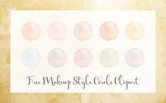 The Dutch Lady Designs: Freebie Fridays #58 - Transparent Makeup Circles