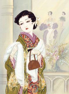 Japanese Art: Orchid. Kisho Tsukuda. 1998