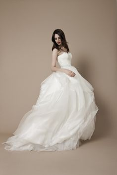 A ball gown wedding dress fit for Cinderella!