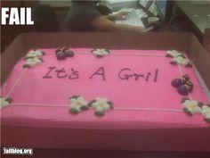 epic fail photos - Baby Shower Cake Fail