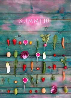 summer fruits and veggies Fruit And Veg, Fruits And Veggies, Colorful Vegetables, Fresh Vegetables, Summer Of Love, Summer Time, Foto Still, Think Food, Jolie Photo