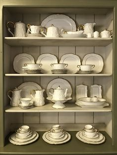 Decorating a hutch with vintage China