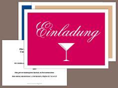 Partyeinladung Cocktail