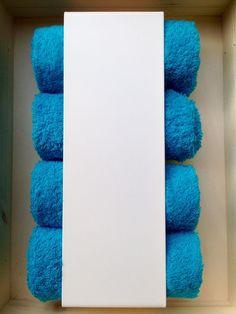 2x Handtuchhalter WC Gästehandtücher Handtuchregal weiß Designer Interior modern