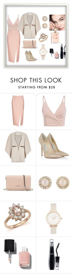 """CLASSIC LOOK"" by italianka on Polyvore featuring мода, C/MEO COLLECTIVE, River Island, Jimmy Choo, Givenchy, Kate Spade, Bloomingdale's, Olivia Burton, Chanel и Lancôme"