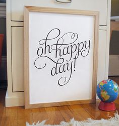 Oh Happy Day inspirational quote print poster  by AlmostSundayInc, $9.00