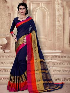 Handloom cotton silk saree which is a perfect traditional wear for simple looks