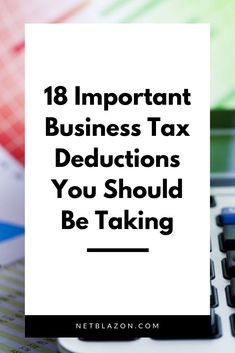 Tax deductions can save you lots of money when tax season rolls around. Find out what you can deduct and which tax deductions are often overlooked. Business Tax Deductions, Tax Refund, Small Business Accounting, Business Tips, E Commerce Business, Financial Success, Online Entrepreneur, Business Motivation