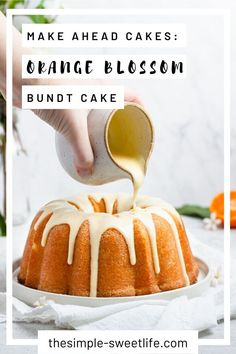 This orange cake is impossibly moist with just the right amount of tang and sweetness. Click through to learn how to make this easy cake recipe from scratch. Cake Recipes From Scratch, Easy Cake Recipes, Sweet Recipes, Baking Recipes, Snack Recipes, Dessert Recipes, Moist Orange Cake Recipe From Scratch, Party Desserts, Orange Bundt Cake