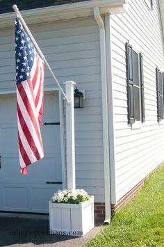 Flag Pole Planter DIY
