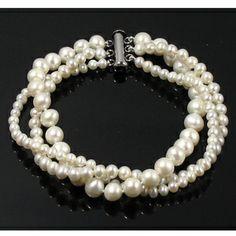 Viona - Wedding Freshwater Pearl Bracelet - Jacqueline Shaw