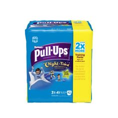Huggies Pull-Ups Night Time Training Pants for Boys, 3T-4T, 42 Count (Pack of 2)   Huggies Pull-Ups Night Time Training Pants for Boys, 3T-4T, 42 Count (Pack of 2)   Huggies Pull-Ups Night Time Training Pants for Boys, 3T-4T    Help your toddler feel like a Big Kid at night with PULL-UPS Night*Time Training Pants. Potty training doesn't end when the lights turn off at bedtime! Let the fun, glow-in-the-dark Disney graphics become part of your Big Kid's bedtime routine. Stay consistent..