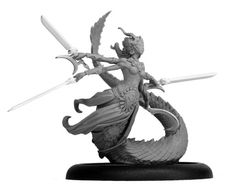 i really like the mixture of opulence and monstrousness in this Naga from Helldorado. just what a Herald of Slaanesh should be.