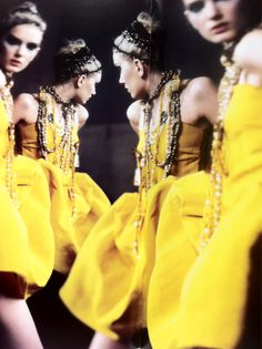 lily donaldson by paolo roversi for lanvin spring campaign 2005 Mellow Yellow, Black N Yellow, Bright Yellow, Color Yellow, Claude Montana, Glamorous Chic Life, Ralph & Russo, Bouchra Jarrar, Valentino