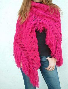 Chal de lana tejido a mano, disponible todos los colores / Shawl handwoven wool, all colors available