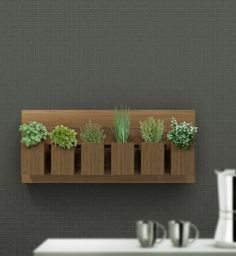 Painel Horta Vertical Colonial 100x42cm Diy Planters, Hanging Planters, Vertikal Garden, Funny Furniture, Indoor Farming, Garden Care, Colorful Garden, Kraut, Interior Design Living Room