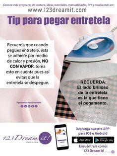 """Aquí te dejamos este tip para que cuando pegues entretela quede perfecta, encuentra tips como este en nuestra categoría """"Tips de costura""""."""