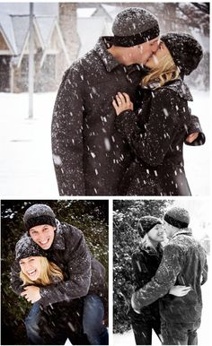 Winter save the date photo op