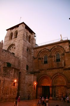 The Church of The Holy Sepulchre, Jerusalem, Israel is the most important site in Christianity, which spans across a large area, covering the final four stations of the Cross and - Calvary, the location where Jesus was crucified and died, the disposition, where he was prepared for burial and his tomb.